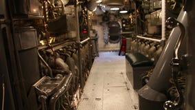 Submarine engine door. HONOLULU, OAHU, HAWAII, USA - AUGUST 21, 2016: door of the engine room of USS Bowfin Submarine SS-287 at Pearl Harbor. Historic Landmark stock video footage