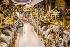 Submarine engine door Royalty Free Stock Images
