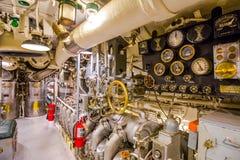 Submarine engine hall Royalty Free Stock Image