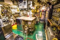 Submarine engine room Royalty Free Stock Images