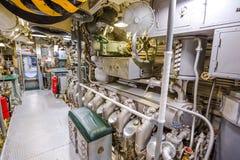 Submarine engine room Stock Photo