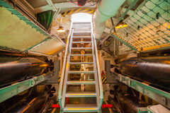 Submarine exit stairs Royalty Free Stock Photos