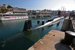 Submarine Genoa Stock Photography