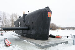 Submarine of the Great Patriotic War in Victory Park, Kazan, Russia. Submarine of the Great Patriotic War in Victory Park in Kazan, Russia, 09.03.2017 royalty free stock photos