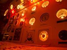 Submarine Instruments red light Royalty Free Stock Photo