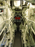 Submarine interior Royalty Free Stock Image