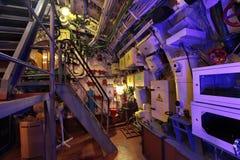 The submarine interior stock image