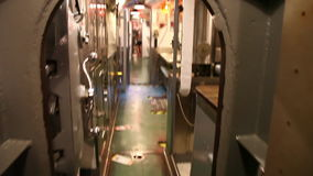 Submarine kitchen dining room. HONOLULU, OAHU, HAWAII, USA - AUGUST 21, 2016: kitchen and dining room of USS Bowfin Submarine SS-287 at Pearl Harbor. Historic stock video