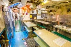 Submarine kitchen dining room Royalty Free Stock Image