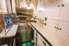 Submarine kitchen room Stock Photos