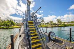 Submarine machine gun tower Stock Photography