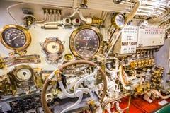 Submarine machine room detail Stock Photo
