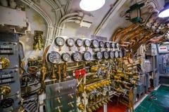 Submarine machine room Stock Photos