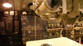 Submarine machine room. HONOLULU, OAHU, HAWAII, USA - AUGUST 21, 2016: panorama of the machine engine room of USS Bowfin Submarine SS-287 at Pearl Harbor stock video footage