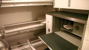 Submarine marines room. HONOLULU, OAHU, HAWAII, USA - AUGUST 21, 2016: triple room for crew with lockers, cots and desk of USS Bowfin Submarine SS-287 at Pearl stock video