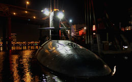 Submarine on display Portland Oregon Royalty Free Stock Images