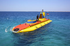 The submarine in the Red Sea. Royalty Free Stock Photo