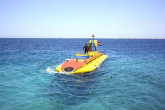 The submarine in the Red Sea. Royalty Free Stock Images