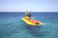 The submarine in the Red Sea. Royalty Free Stock Photography