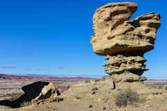 The Submarine rock formation in the Ischigualasto National Park, Royalty Free Stock Images
