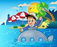 Submarine with sailor theme image 4 Stock Photos
