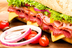 Submarine Sandwich Royalty Free Stock Photography