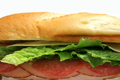 Submarine sandwich. Shot of a submarine sandwich Royalty Free Stock Image