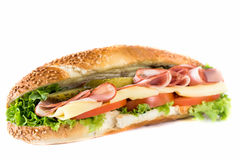 Submarine sandwich Royalty Free Stock Photo