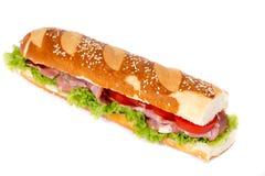 Submarine sandwich isolated Royalty Free Stock Photo