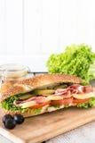 Submarine sandwich Stock Images