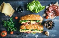 Submarine sandwiches time Stock Photos