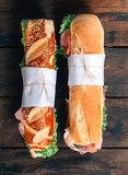 Submarine sandwiches Royalty Free Stock Image