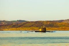 Submarine at the sea royalty free stock image