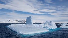 Submarine Shaped Iceberg in Antarctic Ocean Royalty Free Stock Photos