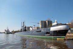 Submarine and ship Stock Photography