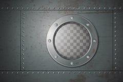 Submarine Side Porthole Illustration Royalty Free Stock Image
