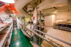 Submarine sleeping room Royalty Free Stock Images