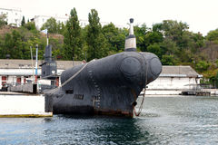 Submarine in the southern bay of Sevastopol Stock Photography