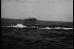 Submarine submerging stock video