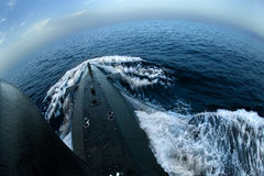 Submarine on surface Stock Photography