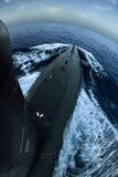 Submarine on surface Royalty Free Stock Image