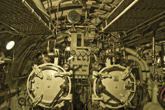 Submarine torpedo room Stock Photo
