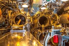 Submarine torpedo room Stock Photo