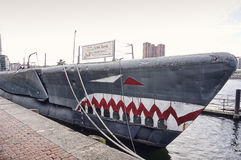 Submarine Torsk in Baltimore Inner Harbor Royalty Free Stock Images