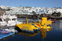 Submarine tour boats, Lanzarote Royalty Free Stock Photo
