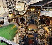 Submarine U-434 -  torpedo room Stock Photo