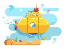 Submarine Under Water Royalty Free Stock Photo