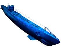 Submarine underwater 1940s (isolated) Stock Images