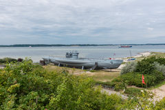 Submarine from world war one on the beach of Laboe Royalty Free Stock Photo