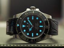 Submarinista de Rolex com fulgor do superluminova Imagem de Stock